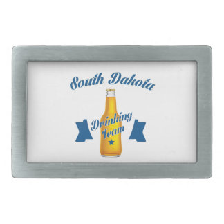 South Dakota Drinking team Rectangular Belt Buckles