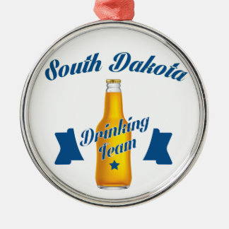 South Dakota Drinking team Silver-Colored Round Ornament