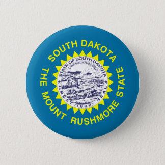 South Dakota Flag 2 Inch Round Button