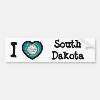 South Dakota Flag Bumper Sticker