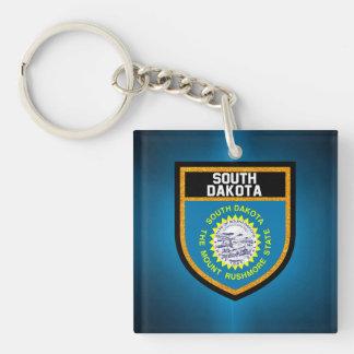 South Dakota Flag Double-Sided Square Acrylic Keychain