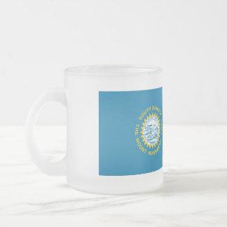 South Dakota Flag Frosted Glass Coffee Mug