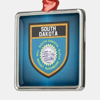 South Dakota Flag Metal Ornament