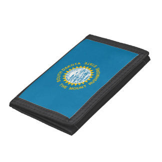 South Dakota Flag Tri-fold Wallet
