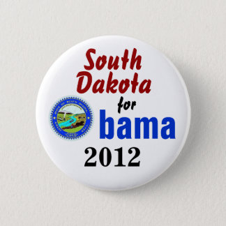 South Dakota for Obama 2012 2 Inch Round Button