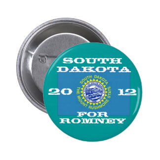 South Dakota for Romney 2012 2 Inch Round Button