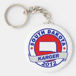 South Dakota Fred Karger Basic Round Button Keychain