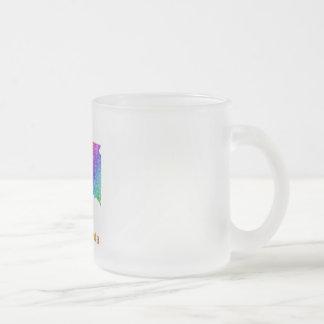 South Dakota Frosted Glass Coffee Mug