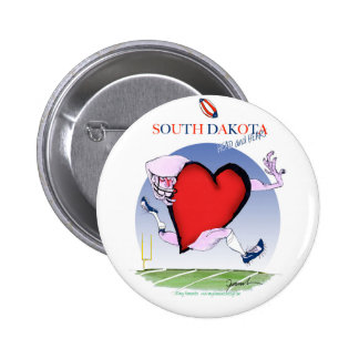 south dakota head heart, tony fernandes 2 inch round button