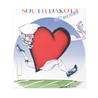 south dakota head heart, tony fernandes notepad