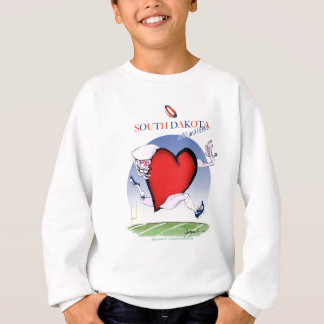 south dakota head heart, tony fernandes sweatshirt