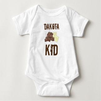 South Dakota Kid Chislic Cubed Meat Crackers Food Baby Bodysuit