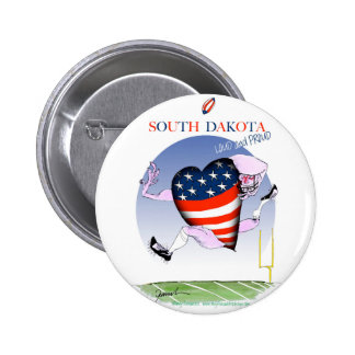 south dakota loud and proud, tony fernandes 2 inch round button