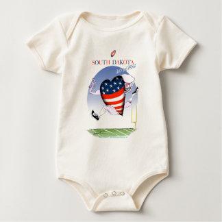 south dakota loud and proud, tony fernandes baby bodysuit