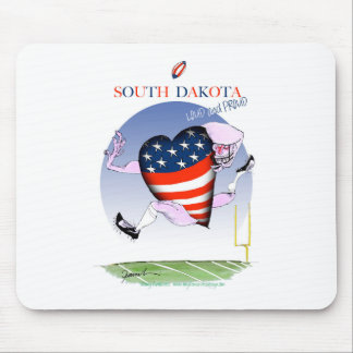 south dakota loud and proud, tony fernandes mouse pad