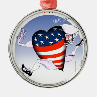 south dakota loud and proud, tony fernandes Silver-Colored round ornament
