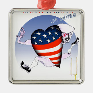 south dakota loud and proud, tony fernandes Silver-Colored square ornament