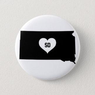 South Dakota Love 2 Inch Round Button