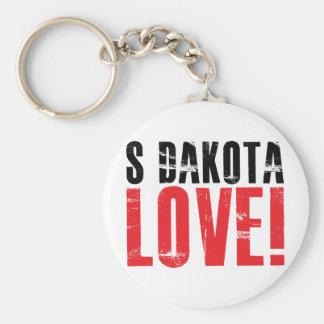 South Dakota Love Basic Round Button Keychain