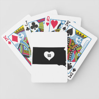 South Dakota Love Bicycle Playing Cards