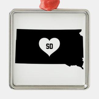 South Dakota Love Metal Ornament
