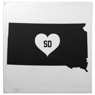 South Dakota Love Napkin