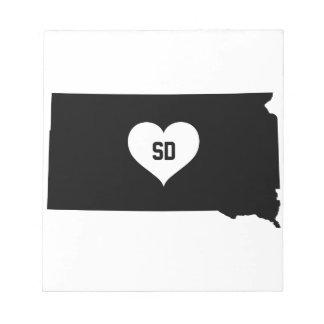 South Dakota Love Notepad