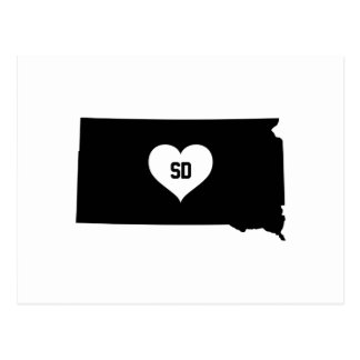 South Dakota Love Postcard