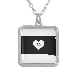 South Dakota Love Silver Plated Necklace