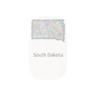 South Dakota map Fingernail Decals