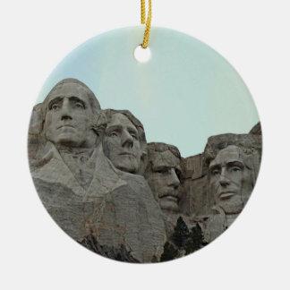 South Dakota Mount Rushmore State Ceramic Ornament