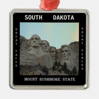 South Dakota Mount Rushmore State Metal Ornament