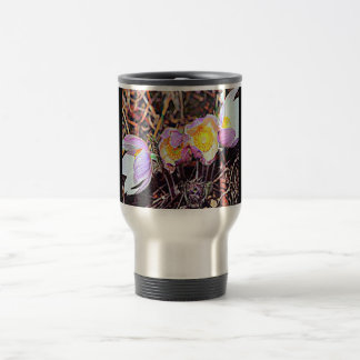 South Dakota Pasque Flower Travel Mug