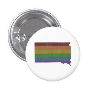 South Dakota Rainbow Gay Pride 1 Inch Round Button