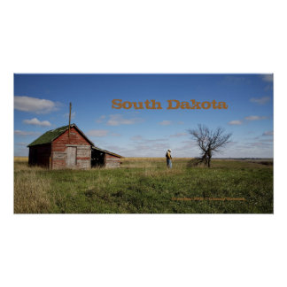 South Dakota Scenic Cowboy Poster