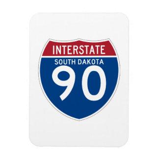 South Dakota SD I-90 Interstate Highway Shield - Magnet