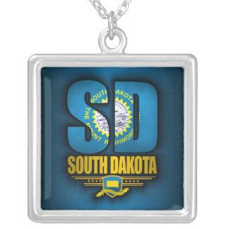 South Dakota (SD) Silver Plated Necklace