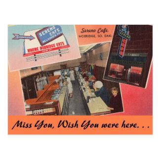 South Dakota, Sereno Cafe, Mobridge Postcard