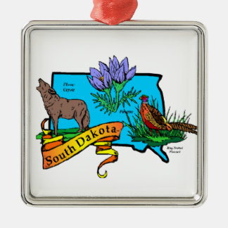 South Dakota State Christmas Ornament Keepsake