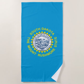 South Dakota State Flag Design on a Beach Towel