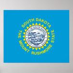 South Dakota State Flag Design Poster