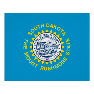 South Dakota State Flag Design Poster