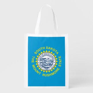 South Dakota State Flag Design Reusable Grocery Bags