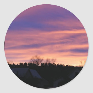South Dakota Sunset Classic Round Sticker