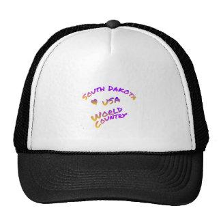 South Dakota usa world country,  colorful text art Trucker Hat
