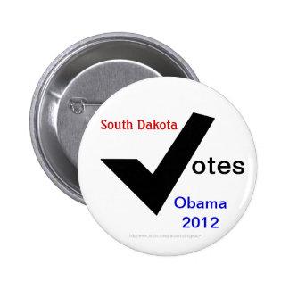South Dakota Votes Obama 2012 2 Inch Round Button