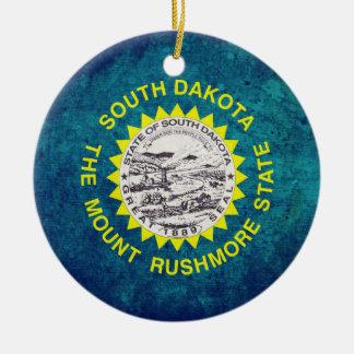 South Dakotan Flag Ceramic Ornament