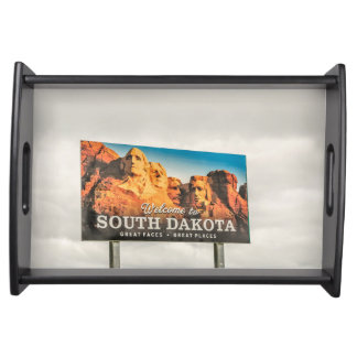 South Dakota's New Welcome Sign Serving Tray