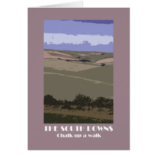 South Downs 1920s-style retro greetings card