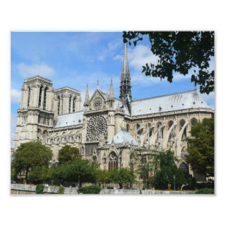 South Facade, Notre Dame Cathedral, Paris, France Photo Print